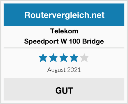Telekom Speedport W 100 Bridge Test