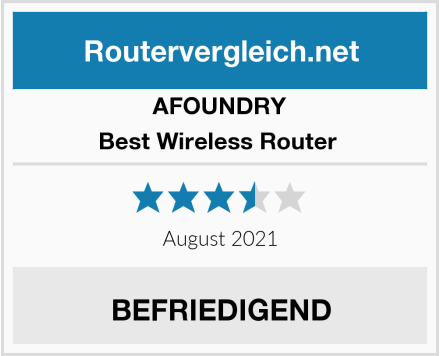 AFOUNDRY Best Wireless Router  Test
