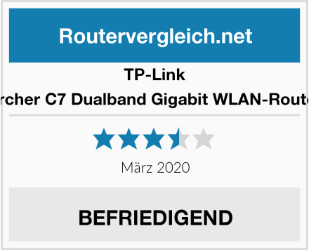 TP-Link Archer C7 Dualband Gigabit WLAN-Router Test