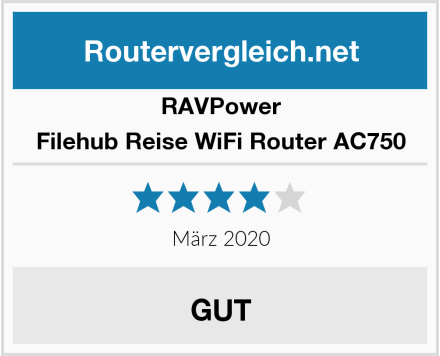RAVPower Filehub Reise WiFi Router AC750 Test